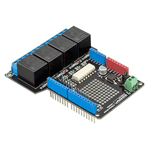 Generic Brands Storage Expansion Board Module Expansion Board 1Pcs 4 Relay Shield Uno Module 400mA 6-12V For Motors Pumps for Arduino - products that work with official boards