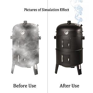LANUCN , BBQ Selbstklebend Smoker Dichtung, Hitzebewahrung, Nomex Grill Türdichtung, Grill Zubehör (5 m x 13 mm x 3 mm x 2 Pack)