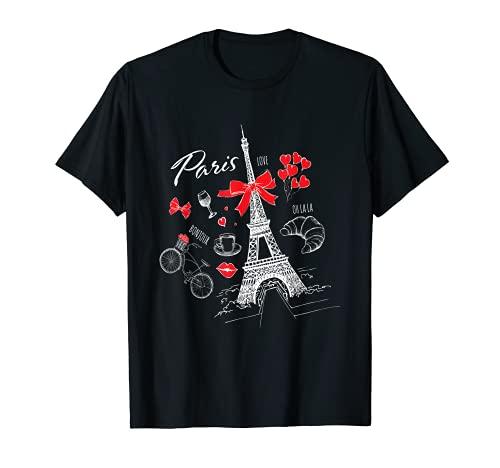 Parigi I Francia Viaggio Francia Torre Eiffel Francese Maglietta