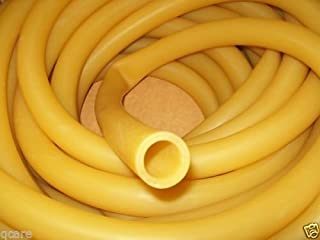 """USA Premium Store 8 Continuous feet 1/2"""" I.D x 1/16"""" wall x 5/8"""" O.D Latex Rubber Tubing Amber"""