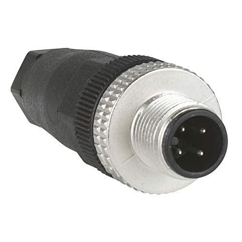 Schneider XZCC12MDM40B M12-Stecker, 4-polig, gerade, Kabelverschraubung PG 7