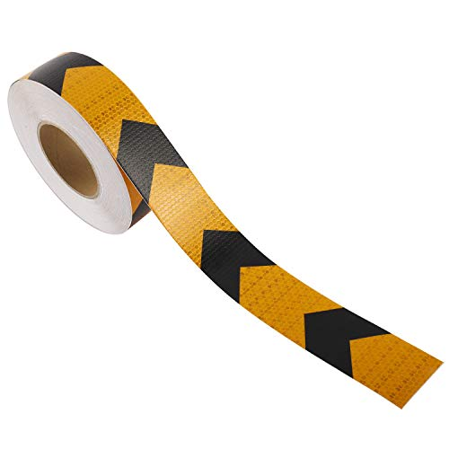 Yellow Safety Warning Hazard Caution Conspiciuity Tape For School Bus Truck Trailer Boat Semi Motorcycle Bike and Helmet Waterproof 2 /× 20 DOT-C2 Reflective Tape