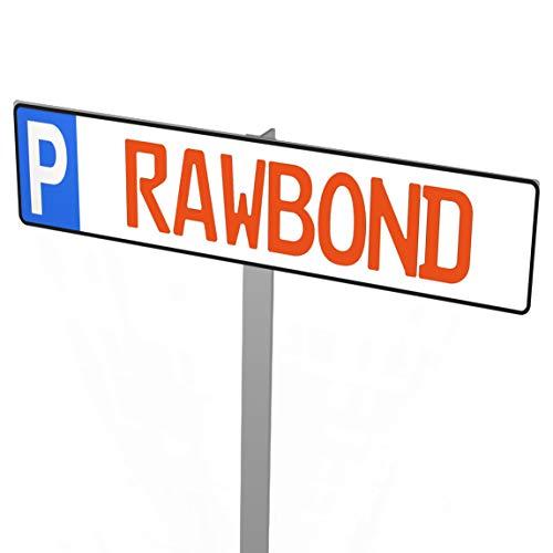 RAWBOND® Nummernschild Befestigung Privatparkplatz [Prime-Versand] - rostfreier Einschlagpfosten für Parkplatzschilder - Extra stabiler Pfosten für Parkschilder und Kennzeichen