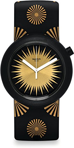 Swatch Damen Digital Quarz Uhr mit Silikon Armband PNB103