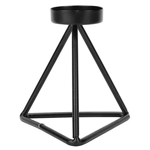 Ranvo Portavelas Negro, Candelabros De Metal De Una Sola Cabeza Simples De Hierro para Decoración De Bodas para Comedor para Velas Cónicas(Pequeño)
