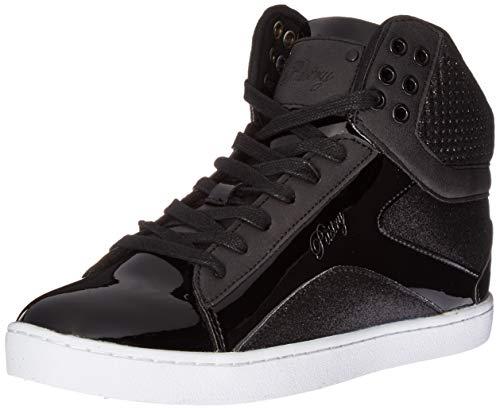 Pastry Pop Tart Glitter High-Top Sneaker & Dance Shoe for Women,Black 11