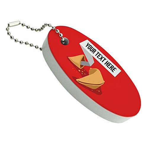 Graphics and More Personalized Custom Fortune Cookie Floating Keychain Oval Foam Fishing Boat Buoy Key Float