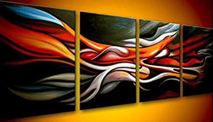 $50-$800 Handmade Oil Painting by College Teachers - agp010 Abstract Group Canvas Art Set-Panels for Home Wall Decor -Size 03