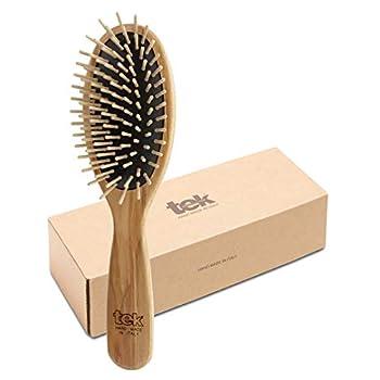 Tek big oval brush with regular pins 100% FSC - Handmade in Italy