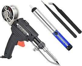 NEWACALOX Soldering Gun Automatic Hand-held Solder Iron Kit Welding Tool with Lead-free Wire, Desoldering Pump, Tweezers for Circuit Board, Home DIY, Electronic Repair