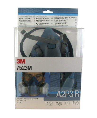 3M 7523M Halbmaske, wiederverwendbar, hochwertig, mit A2P3-Filtern
