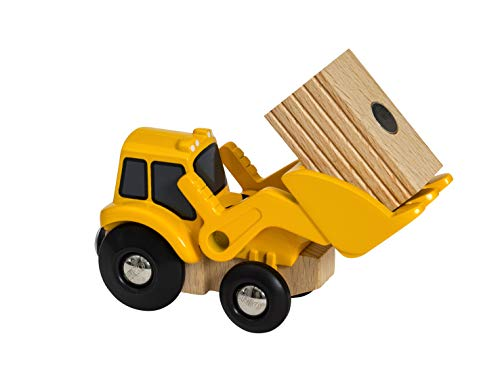 BRIO World Farm Tractor Loader for Kids age 3 years and up compatible with all BRIO train sets