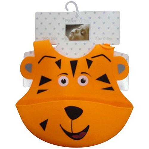 Del bebé impermeable, diseño de piel de tigre de alimentador de silicona lavable