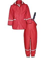 Playshoes Regen-Set Basic Chaqueta y Pantalones Impermeables para Niñas