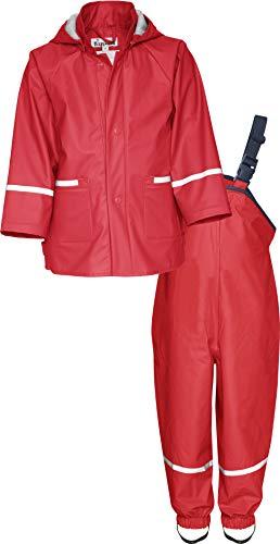 Playshoes Regen-Set Basic Capo d'Abbigliamento, Rosso, 98 Mädchen