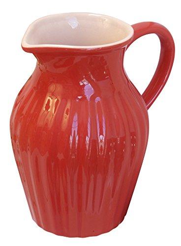 Ib laursen Mynte Krug Kanne Blumenvase rot Strawberry Keramik