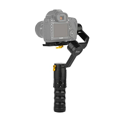 Ikan ds2-a Beholder ángulo Gimbal Estabilizador de 3Ejes con codificadores para cámaras réflex Digitales y cámaras sin Espejo, Negro