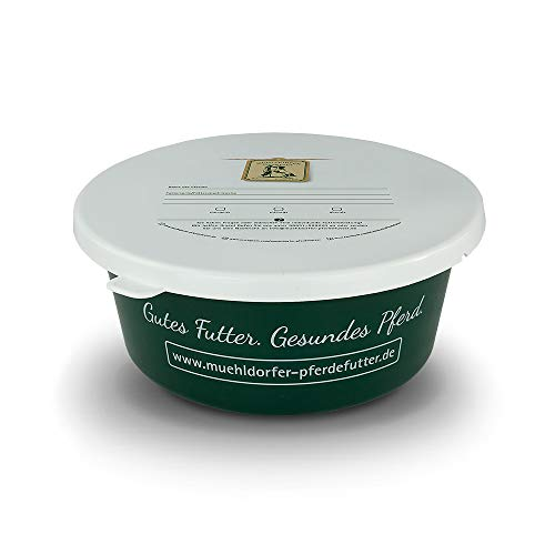Mühldorfer Futterschale mit Deckel, ideal zum Mitnehmen oder Vorrichten von Futter, belastbar und langlebig, lebensmittelecht