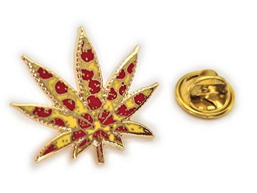 Marijuana 420 PEPPERONI PIZZA Medical Pot Weed Medical Hat Jacket Tie Tack Lapel Pin