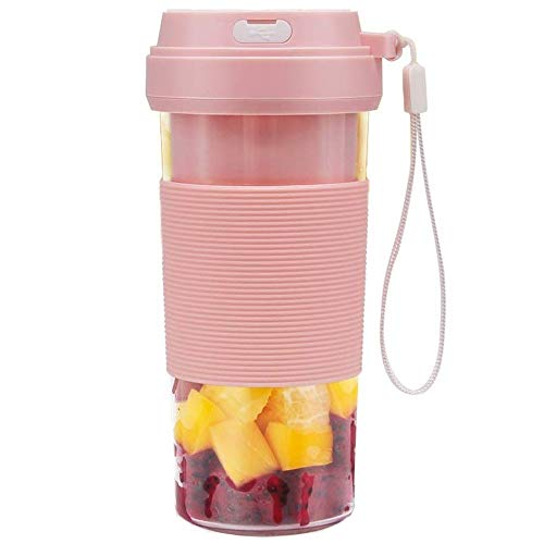 Blender Portable blender 1400mAhUSB rechargeable small blender 300Ml cordless personal blender for milkshake and smoothie juice
