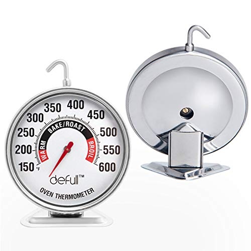 Extra Large Dial Oven Thermometer Clear Large Number Easy-to-Read Oven Thermometer with Hook and...