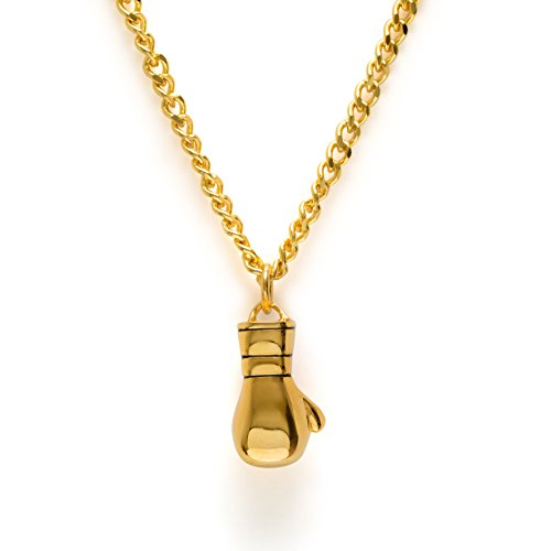 Gold Boxing Gloves Necklace Boxing Pendant Fitness Gym Jewelry Muay Thai