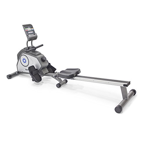 Marcy Foldable 8-Level Magnetic Resistance Rowing Machine with Transport Wheels NS-40503RW,Grey