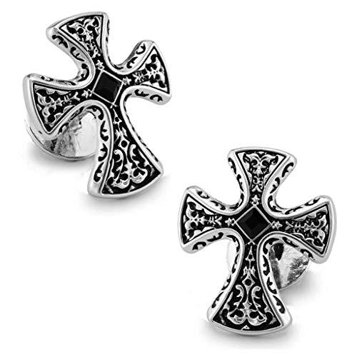 GCX Einfach European Style Retro Manschettenknöpfe Platin überzogene Kreuz Französisch Hemd-Stulpe-Nails Männer Cuffs Großzügig