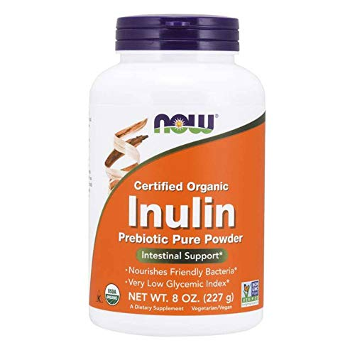 NOW Inulin Prebiotic Fos, 8-Ounces (Pack of 2)