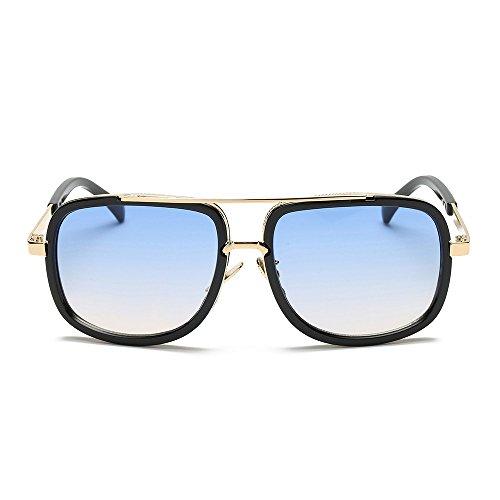 Transwen - Gafas de sol clásicas para mujer, montura de metal, gafas de sol polarizadas, marco irregular, lentes para deportes al aire libre