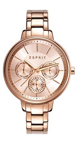 Esprit Melanie - Reloj análogico de cuarzo con correa de acero inoxidable para mujer, color oro rosa
