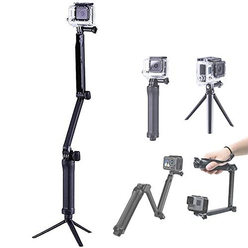 NMD&LR Selfie Stick per Fotocamera Gopro, Braccio Regolabile a 3 Sezioni Pieghevole Lungo Selfie Stick, Treppiede Selfie Stick È Adatto per Gopro8 / 7/9, per Fotocamera Sportiva Xiaoyi