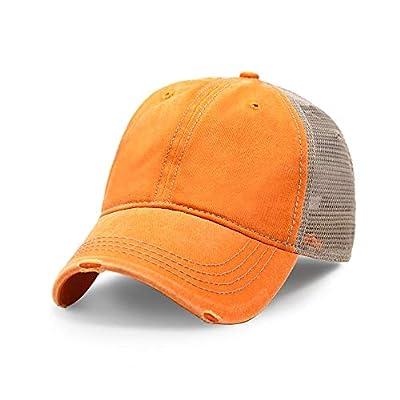 Vintage Distressed Trucker Hat Adjustable Back Unisex Headwear