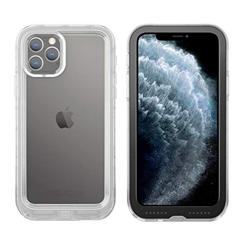 Pelican iPhone 11 Pro Case, Marine Case - Military Grade Drop Tested - TPU, Polycarbonate, Liquid Silicon Protective Case for Apple iPhone 11 Pro (Clear/Black)