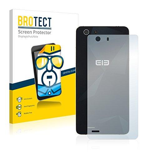 BROTECT Schutzfolie kompatibel mit Elephone S2 Plus (Rückseite) (2 Stück) klare Bildschirmschutz-Folie