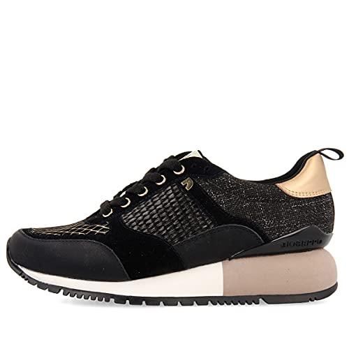 Sneakers Negras y Doradas para Mujer ANZAC