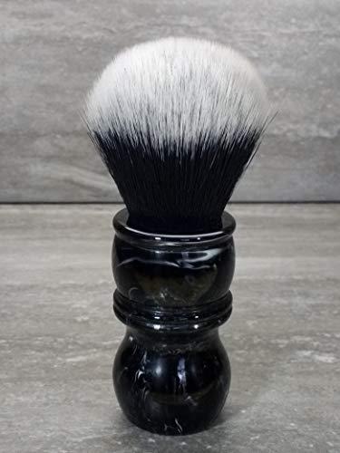 Yaqi 24mm Tuxedo Rasierpinsel Griff aus schwarzem Marmoreffekt