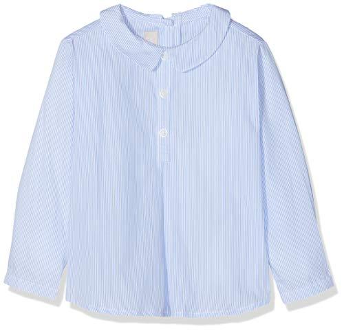 Chicco Camicia Maniche Lunghe Camisa, Turquesa (Azul Rigato 023), 86 (Talla del Fabricante: 086) para Bebés