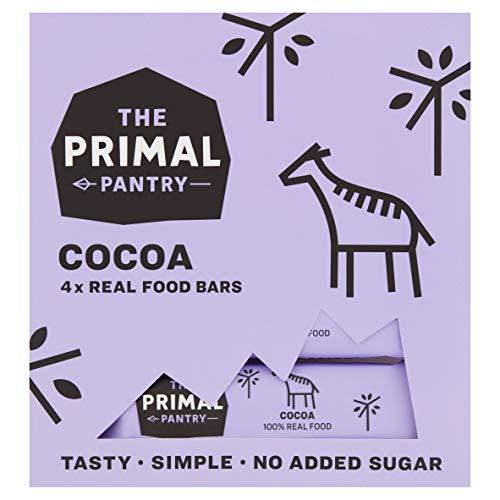 The Primal Pantry 48 x 30g (Cioccolato) - 100{0a8d9f8e020f8646a9050bc073259ec9cfa93265c750987739f9fe0281080264} paleo, vegane, senza glutine, senza cereali, senza soia, senza zuccheri raffinati, aromi, coloranti o conservanti