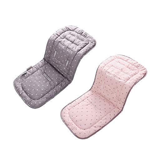 Suave y reversible para cochecito de bebé puro algodón, asiento de coche, capazo de liner, colchón cambiador, funda universal para cochecito, tamaño 33 x 78 cm