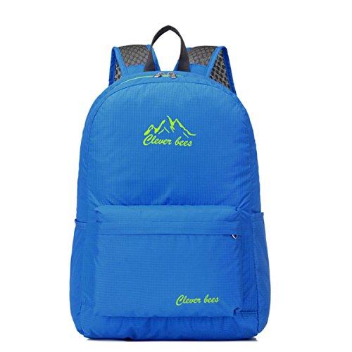 Imperméable à l'eau Outdoor Sports sac à dos Racksacks Skin package Oxford pliable Packable loisir léger pour voyage randonnée Camping cyclisme 5 couleurs H40 x W27 x T18CM , 15cm*2.5cm