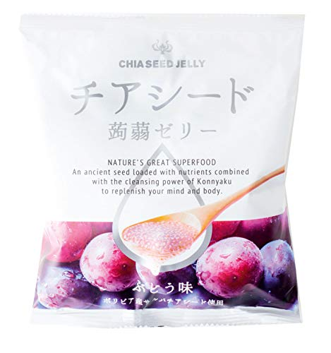 若翔 チアシード蒟蒻ゼリー ぶどう味 1袋(10個) ×12袋