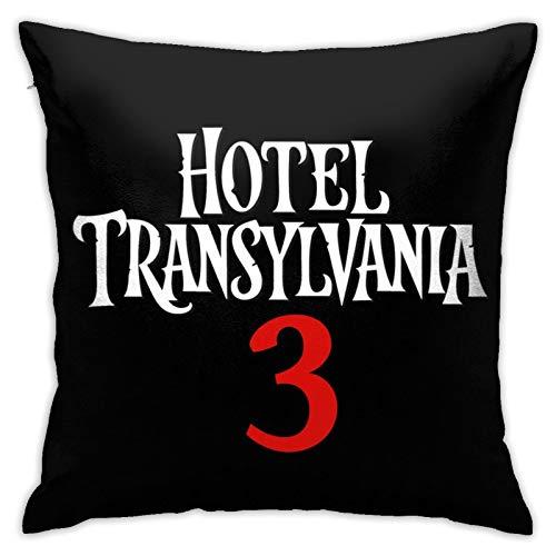 Hotel Transylva-nia - Funda de almohada cuadrada suave y lisa, lavable, cuadrada, grande, para sofá, silla, cama y sofá, funda de almohada de 45,7 x 45,7 cm