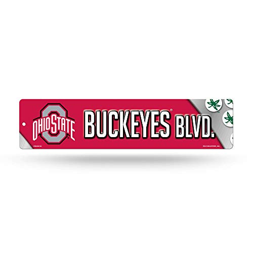 NCAA Rico Industries 16-Inch Plastic Street Sign Décor, Ohio State Buckeyes
