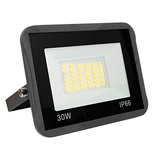 Yinet-EU 30W LED Strahler Außen 3000LM LED Wandstrahler Lampe Außenstrahler 3000K Warmweiß IP66 LED Flutlicht Scheinwerferfür Werkstatt Garage Garten