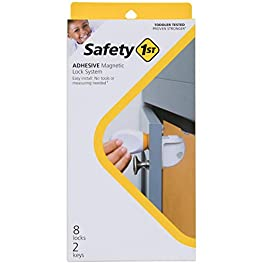 Safety 1ˢᵗ Adhesive Magnetic Lock System, 8 Locks And 2 Keys