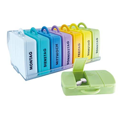 PILLBASE 2Go Pillenbox   Tablettenbox   Pillendose   Aufbewahrung Reise Tabletten   tragbar & mobil   Medizin Vitamine Pillen   Outdoor Sport (Matt)