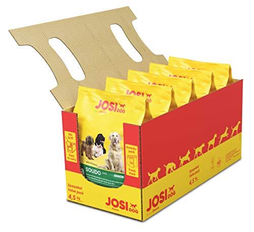 JosiDog Solido, Hundefutter für wenig aktive Hunde, Premium Trockenfutter für ältere oder ausgewachsene Hunde, powered by JOSERA, 5er Pack (5 x 900 g)