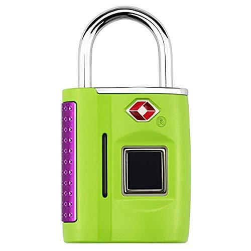Smart vingerafdruk-hangslot, anti-diefstal keyless biometric Security Lock USB-oplaadwaterdicht, geschikt voor voordeur en koffer. groen
