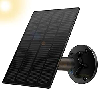 StartVision Solar Panel for Rechargeable Battery Outdoor Camera,Waterproof Solar Panel with 12ft USB Cable Continuously Power for Outdoor Security Camera,5V 3.5W Micro USB Port